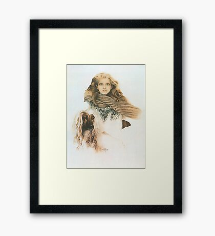 """Christine"" Oil on Canvas Framed Print"