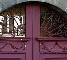 Paris Ile de St Louis private courtyard gates detail by BronReid