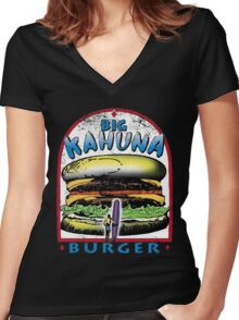 Classic Big Kahuna Burger Women's Fitted V-Neck T-Shirt