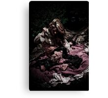 Knife Play Canvas Print