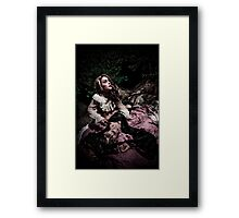 Did you hear something? Framed Print