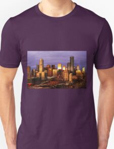 Melbourne at sunset, from Docklands T-Shirt