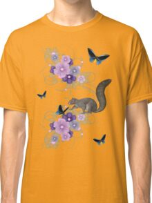 Playful Squirrel and Butterflies Classic T-Shirt