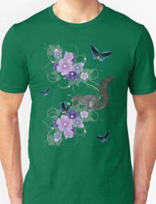 Playful Squirrel and Butterflies T-Shirt