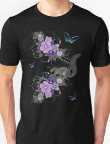 Playful Squirrel and Butterflies Unisex T-Shirt