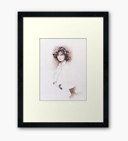 """Jennifer"" Oil on Canvas Framed Print"