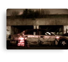 The abandoned car was her home, a close friend in fact Canvas Print