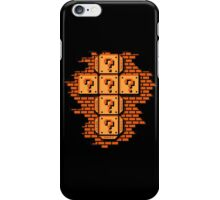 Mario Flat Pack Question Mark Cube iPhone Case/Skin