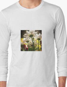 White flowers beautiful nature Long Sleeve T-Shirt