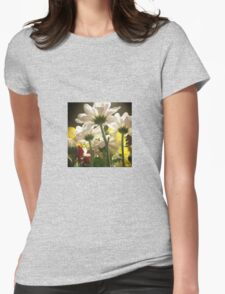 White flowers beautiful nature Womens Fitted T-Shirt