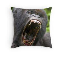Silverback Gorilla - Virunga National  Park Rwanda Throw Pillow