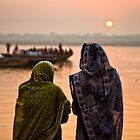 Sunrise - Ganges River, Varanasi by Andrew To