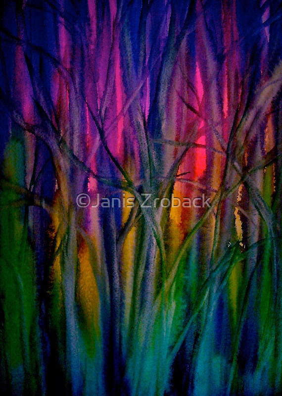 Trees..Abstract...Just Before Dawn by ©Janis Zroback