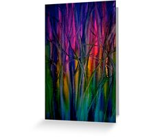 Trees..Abstract...Just Before Dawn Greeting Card