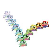Super Mario Rainbow Jump Photographic Print