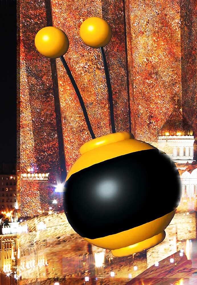 Sputnik Over Moscow by robertemerald