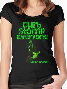 Super Dragon - Curb Stomp Everyone Women's Fitted Scoop T-Shirt