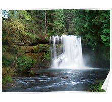 Upper North Falls,Oregon Poster
