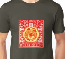 China Red Print Unisex T-Shirt