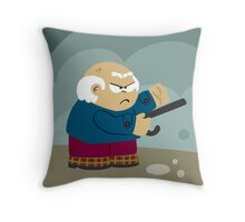 Old People Rage Throw Pillow