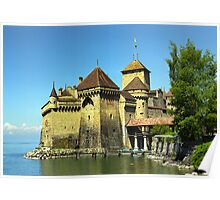 Montreux, Chatelard Castle, Switzerland Poster