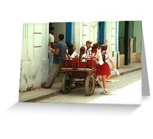 A Cartload of Cuban Children Greeting Card