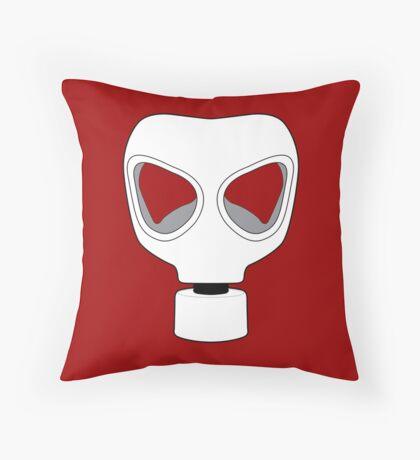 ZOMBIE APOCALYPSE GASMARK by Zombie Ghetto Throw Pillow
