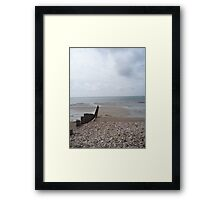 Bognor Regis Beach - Far Out to Sea Framed Print