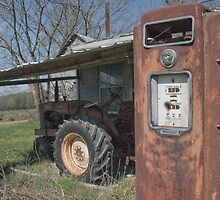 Old Gas Pump, Tractor, Gas Station  by chuckbruton