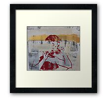 Girl with Red Sunglasses Framed Print