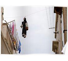 Protected washing, Locorotondo, Puglia, Italy Poster
