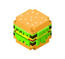 Cute Pixel Burger by Matthew Gilbert