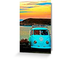 Iconic VW & Sunset. Greeting Card