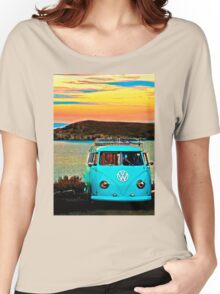 Iconic VW & Sunset. Women's Relaxed Fit T-Shirt