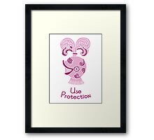 Use Protection Framed Print