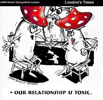 Toxic Relationships by Londons Times Cartoons by Rick  London
