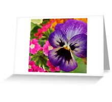 Various types of flowers Greeting Card