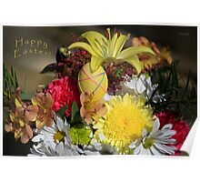 Happy Easter Bouquet Poster