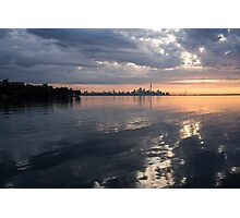 Early Morning Reflections - Lake Ontario and Downtown Toronto Skyline  Photographic Print
