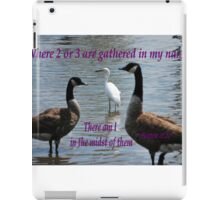 Matthew 18:20 iPad Case/Skin