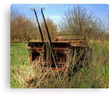 Antique farm equipment left to the elements Canvas Print