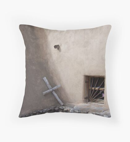 Legendary - Cross at Chimayo, New Mexico Throw Pillow