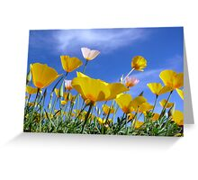 Poppies and Blue Arizona Sky Greeting Card