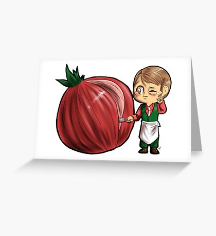 Hannibal vegetables - Onion Greeting Card