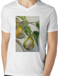 Pears. Detail.  Mens V-Neck T-Shirt