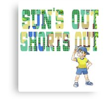 Pokemon - Sun's Out Shorts Out! Canvas Print
