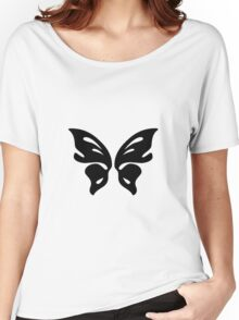 Black Butterfly Vector Art Women's Relaxed Fit T-Shirt