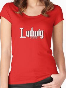 Wonderful Ludwig Drums Women's Fitted Scoop T-Shirt
