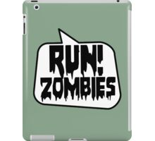 RUN! ZOMBIES by Bubble-Tees.com iPad Case/Skin