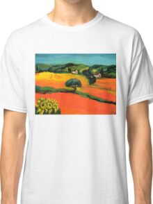 TUSCANY LANDSCAPE  WITH SUNFLOWERS Classic T-Shirt